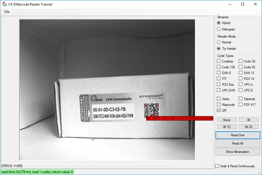 CVB Barcode - Tools for demanding machine vision tasks
