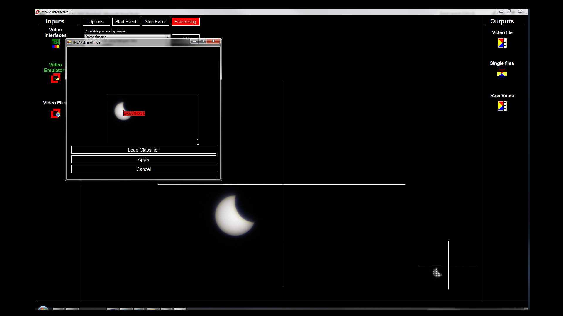 Making of Eclipse 2015 with machine vision